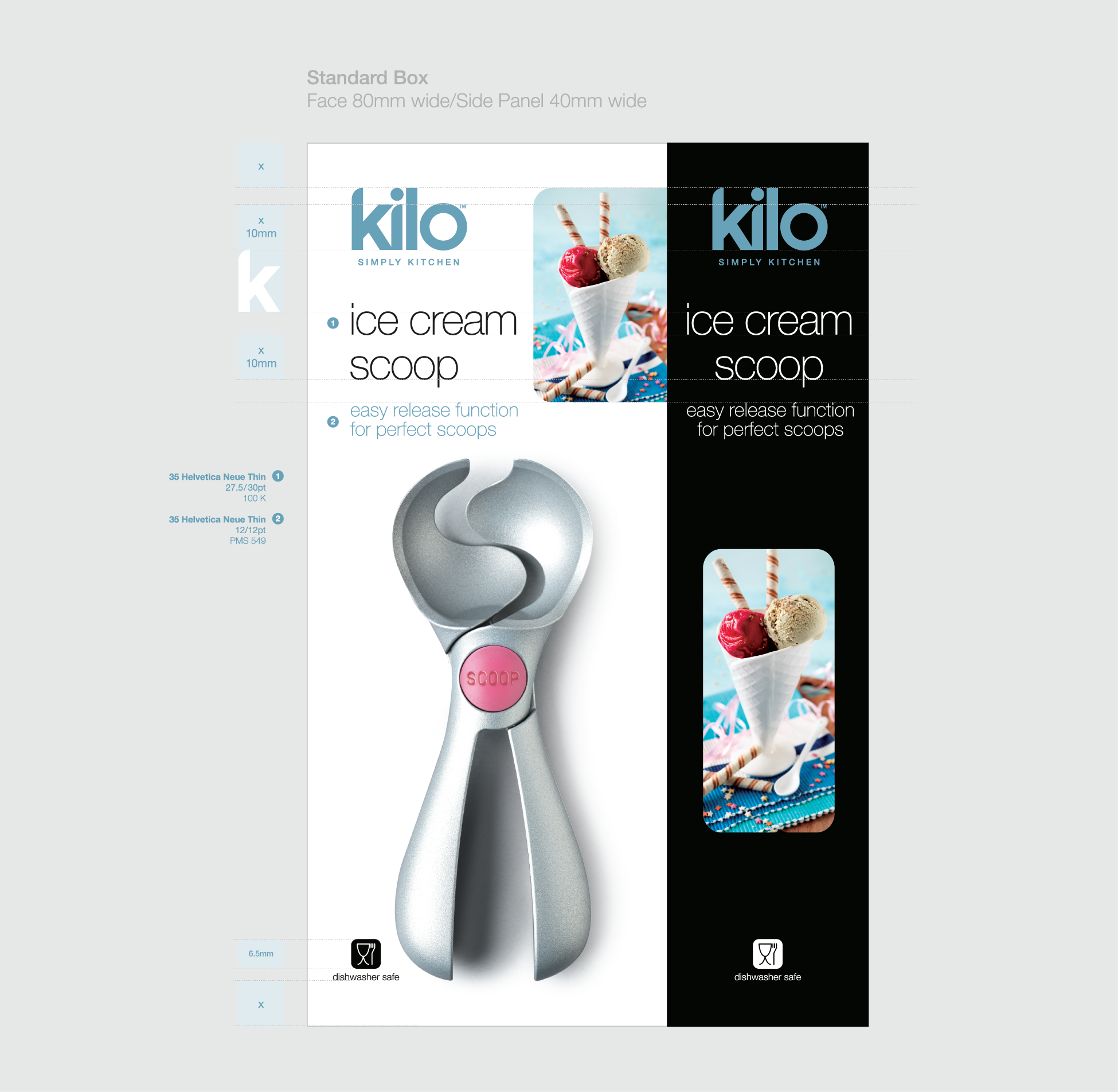 CKS Kilo kitchenware packaging by FSG Design