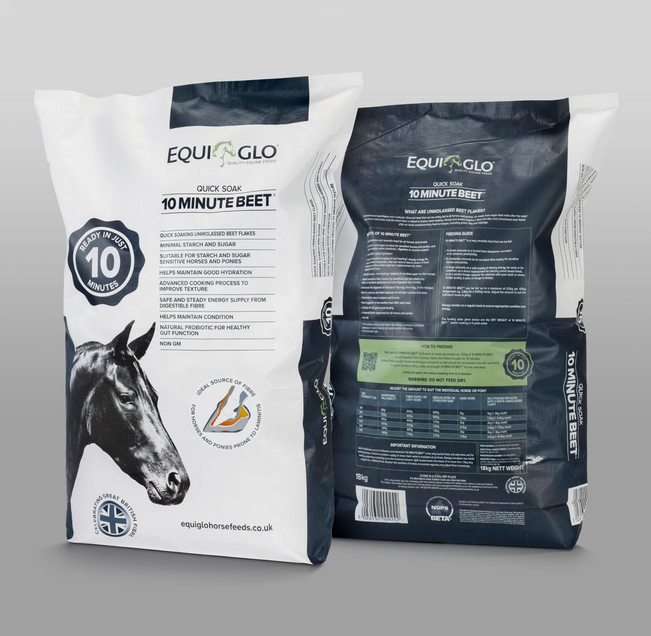 Equi Glo horse feed packaging by FSG Design