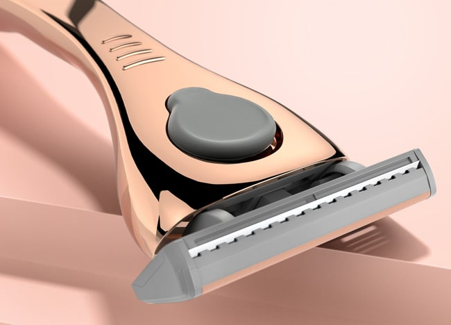 3D product rendering for Friction Free Shaving razors
