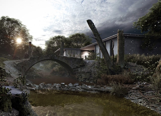 Archviz for Riverbank residential property