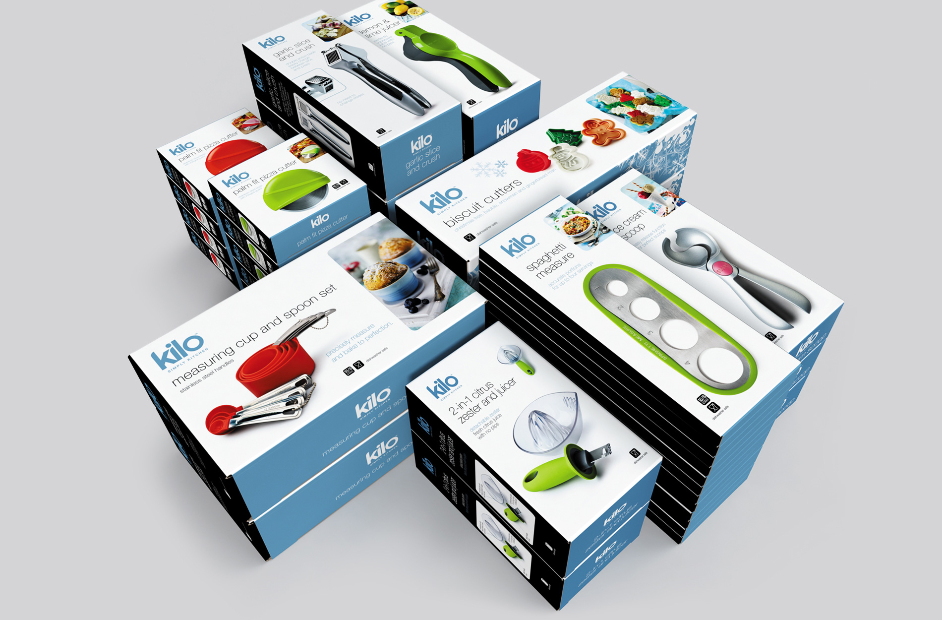 Retail box packaging for CKS Kilo kitchenware