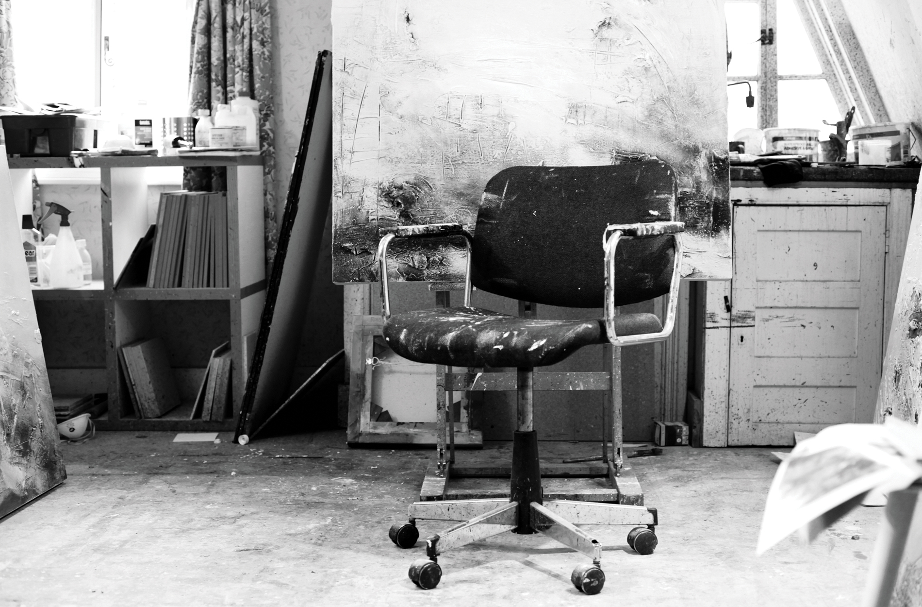 Location photography of an artists studio