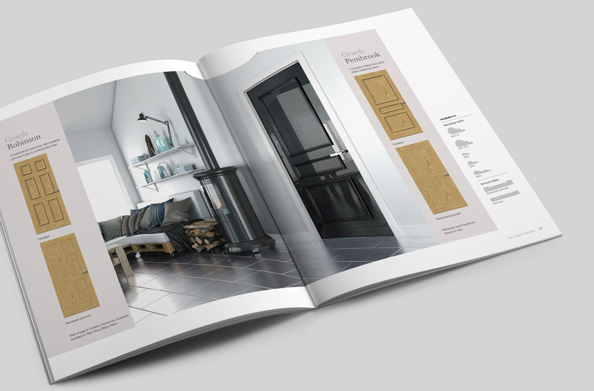 Product brochure design for Graefe veneer doors